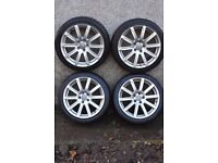 Audi A4 Alloy wheels for B8 can fit B7 with adapter which are fitted.