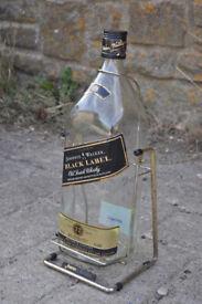 johnnie walker black tower whisky bottle 4.5 litre empty man cave