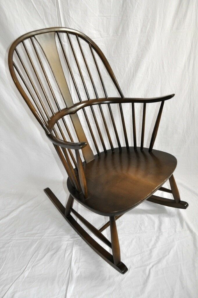 Vintage Retro 60's Ercol Chairmakers Rocking Chair Model 912 Old Colonial Finish