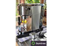 RARE modified Delonghi Dedica 680 Espresso Machine - Silver + extras