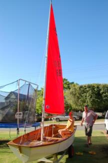 Mirror Sailing Dinghy and Launching Trolley Palmyra Melville Area Preview