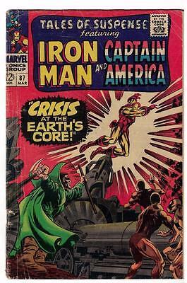 Marvel Comics  TALES OF SUSPENSE  #87 VG- 3.5  Captain america