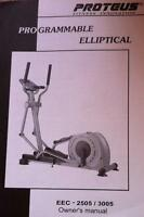 PROTEUS EEC - 2505/3005 ELLIPTICAL CROSS TRAINER