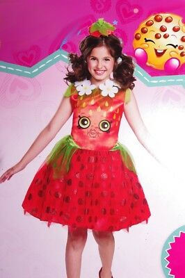Girls SHOPKINS STRAWBERRY KISS Fruit Halloween Purim Costume - Kiss Girl Kostüm