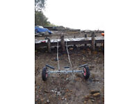 Launch trolley for sailing/rowing boat. Swap/PX fishfinder, VHF etc