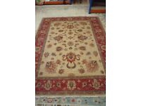Large Red / Pink Patterned Rug 162 x 230