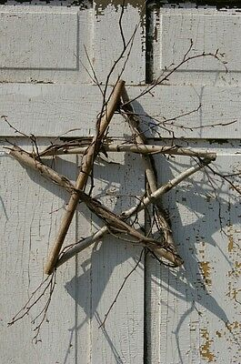 Birch Twig Star Wreath Primitive Farmhouse Patriotic Door Hygge Scandinavian - Patriotic Door Wreaths