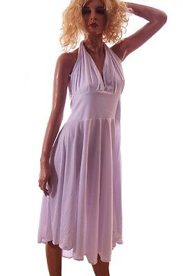 Womens Sexy Marilyn Monroe Actress White Dress Halloween Costume Sm Med Lg NEW (Marilyn Halloween Kostüme)