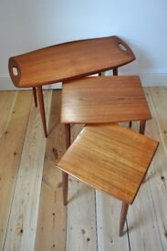 Vintage Retro 60's Danish Jens Harald Quistgaard nest of coffee / side tables