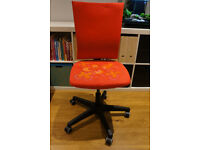 IKEA Swivel Chair Desk Office Hand painted Red