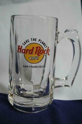 Vintage Hard Rock Cafe San Francisco Save The Planet Glass Beer Collector Mug