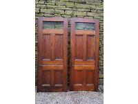 2 reclaimed pine 5 panel interior doors