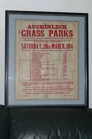 antique 1914 agricultural poster pricing local grazing fields