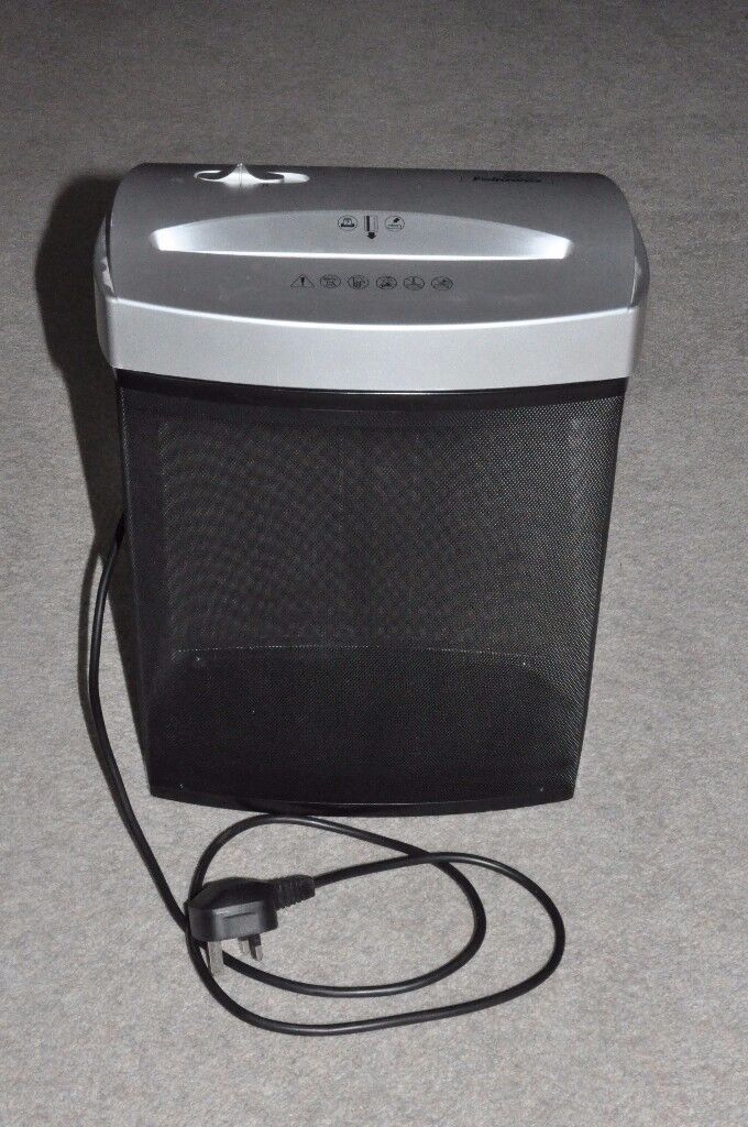 Fellowes Mains Electric Cross-cut Paper Shredder with Auto-start & Reverse - Excellent Condition