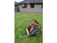 Nearly New - Double Buggy Child Bike Trailer - Excellent Condition - used 3 times over summer hols