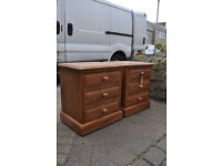 quality pair of solid pine bedside cabinets