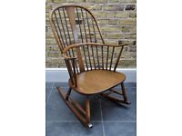 Vintage Retro 60's Ercol Chairmakers Rocker Rocking Chair in Golden Dawn