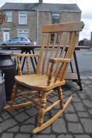 solid beech farmhouse rocking chair