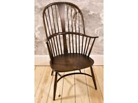 1960's Ercol Windsor Chairmakers Double Bow Fireside Chair - model 7911 - Traditional Finish