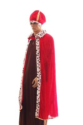 Mens KING Pimp Robe Ugly Christmas Sweater Party Halloween Costume Purim XL NEW