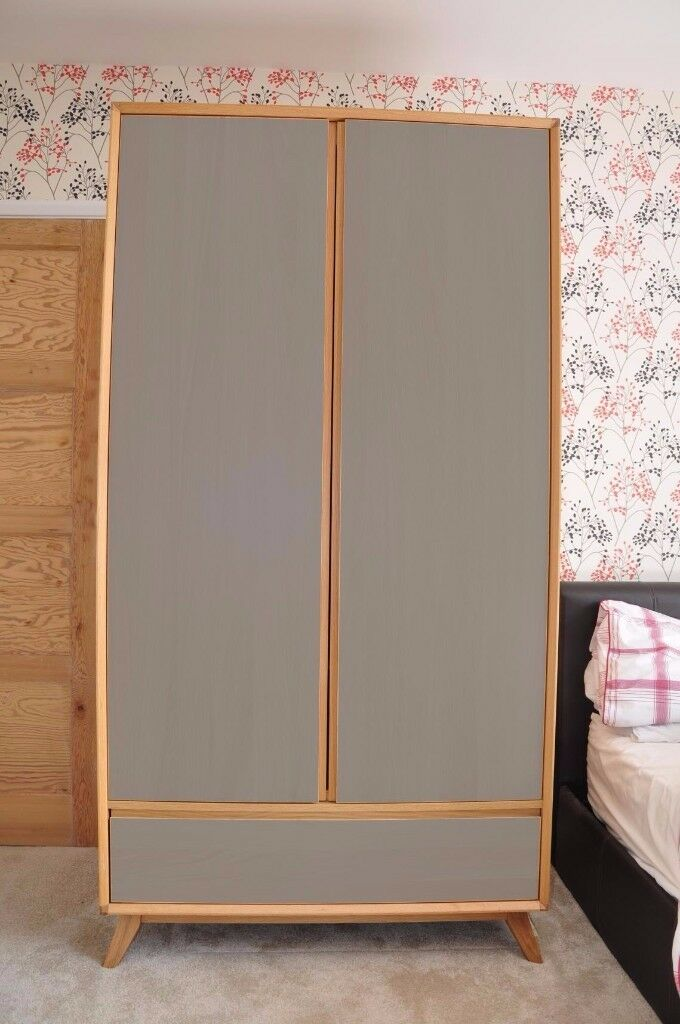 John Lewis Stride 2 Door Wardrobe - Up-cycled Retro Mid Century Style - RRP £999