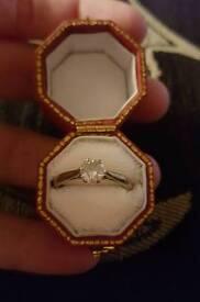 ***LOOK ***18ct White gold half carat Diamond solitaire ring