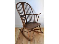 Vintage Retro 60's Ercol Chairmakers Rocking Chair Model 912 Golden Dawn Finish