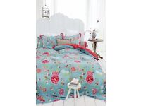 Pip studio green birds of paradise duvet cover with pillows - double