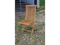 4 hardwood deck chairs