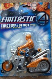 Fantastic 4 Thing Bump & Go Rock Cycle with light-up Headlight