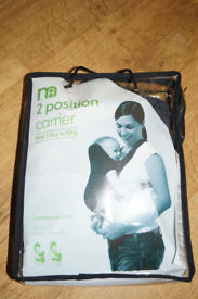 MotherCare 2 Position Baby Carrier From 3.5KG - 10 KG in Excellent condition.