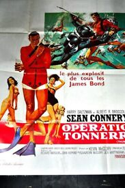 ORIGINAL JAMES BOND MOVIE POSTER THUNDERBALL (FRENCH ISSUE) VERY LARGE 60 X 40 INCHES IN SIZE