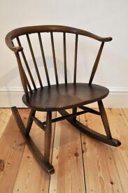 Vintage retro 60's Ercol ercol windsor Cowhorn Rocking Chair Rocker
