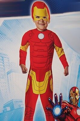 ON MAN Halloween Costume Soft Mask Toddler 2 4 2T 3T 4T NEW (Iron Man 2 Halloween Kostüme)