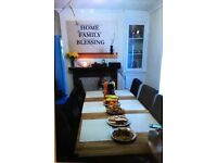 8 seater wood table and chairs