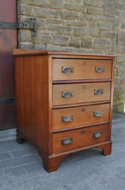 victorian mahogany architect drawers / engineers drawers industrial appeal