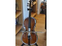Stentor Student 1 Cello, 10th Size, Bow and Bag good condition.