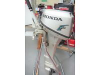 HONDA 6hp OUTBOARD ENGINE - LONG SHAFT - YEAR 2003