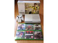 Microsoft Xbox One S 500GB White Console - plus 6 games