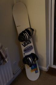 Ladies Burton Snowboard, Bindings and Size 7 Boots