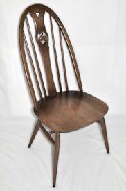 Vintage Retro 60's Ercol Windsor Swan Back Swanback Chair - set of 4