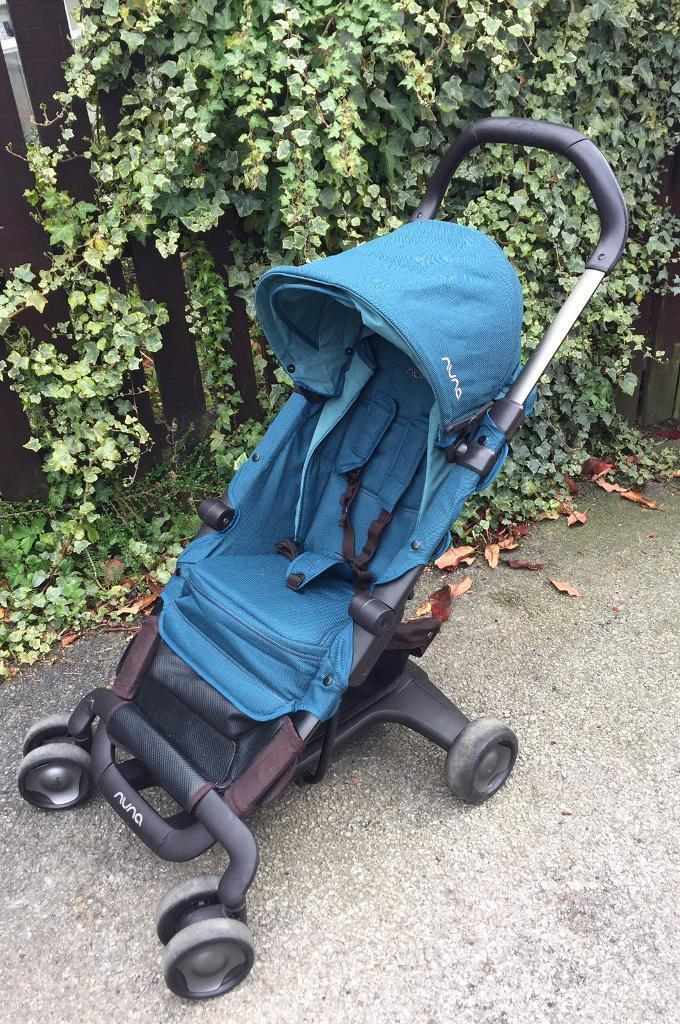 Nuna Pepp Stroller Pushchair With New Emerald Seat Cover