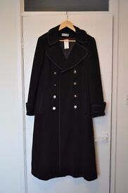 Ladies long black coat