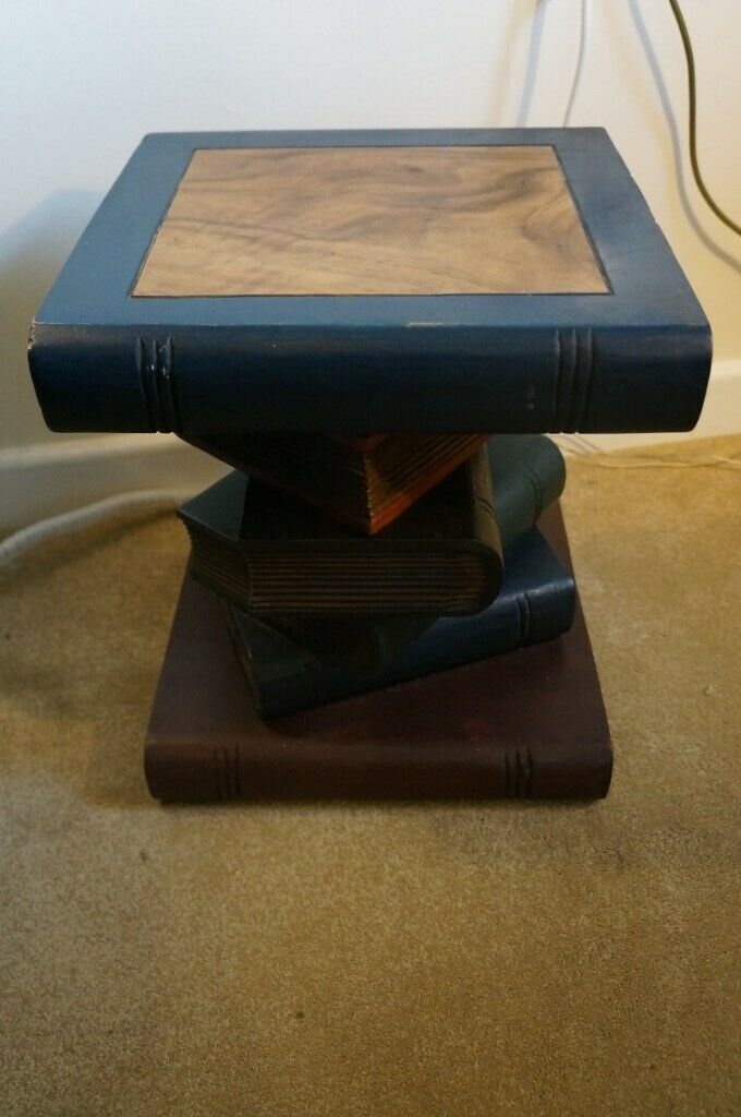 Reduced Price Side Table A Stack Of Books Made From Solid Wood Unique And Arty In Brighton East Sussex Gumtree
