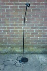 Black Floor Standing Lamp Bendy Neck