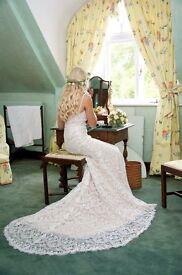 Watters Wtoo Elise Wedding Dress UK Size 8 Immaculate
