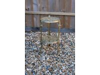 Decorative Antique Vintage Style Brass Cherub Two Tiered Plant Cake Stand Table