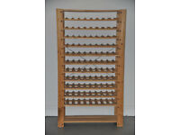 Wine Rack, from IKEA, unfinished pine, 88 bottles.