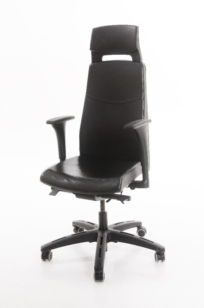 Ikea Office Chair With Head Rest Adjule Arm And Back Lumber Support