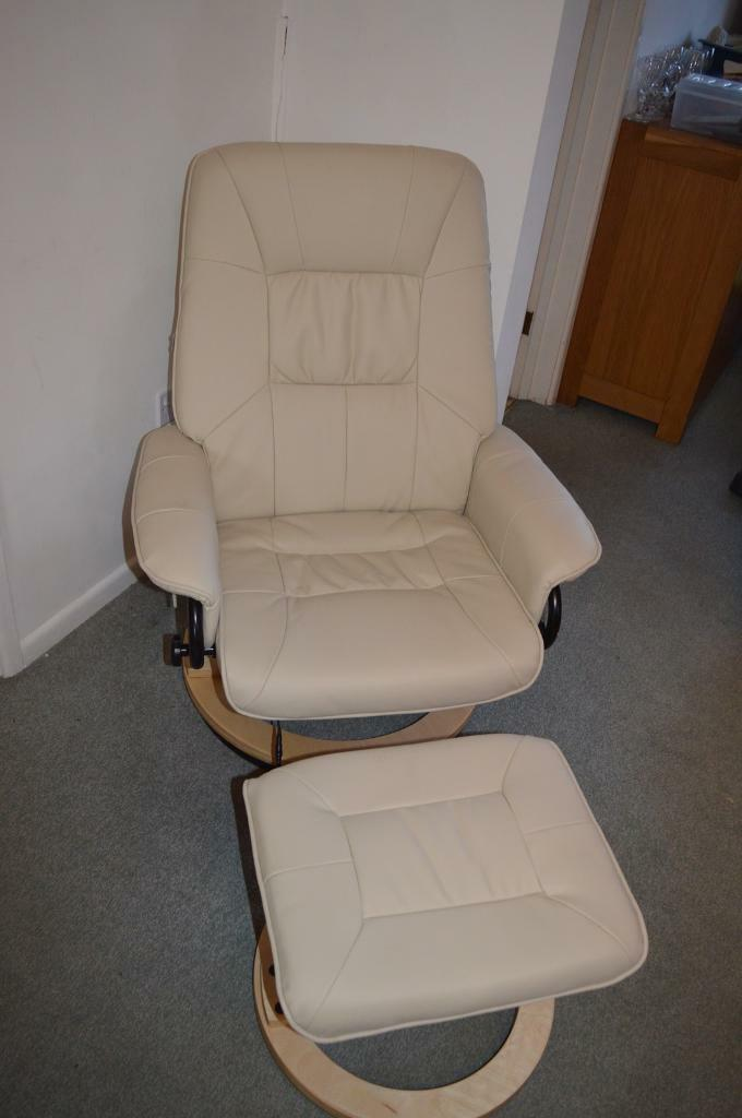 Leather Swivel Recliner With Electric Massage